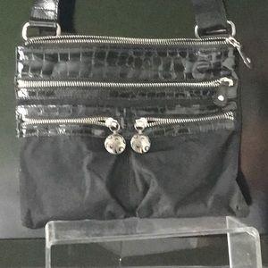 Brighton  nylon and patent. Black bag.